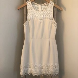 Altar'd State cream sleeveless dress.
